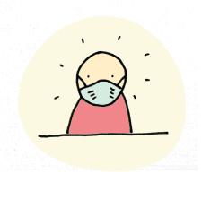 Mondkapje verplicht pictogram en sticker