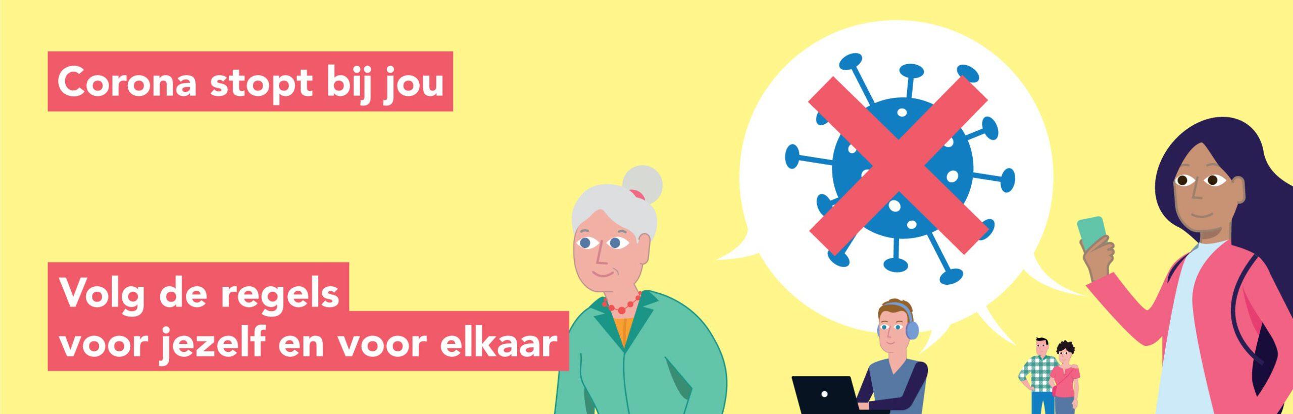Corona stopt bij jou campagne - Studio van Laar - GGD Brabant-Zuidoost
